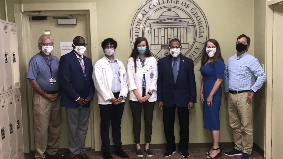 Congressman Bishop with students, faculty, and administrators from the Medical College of Georgia at the Albany, Georgia campus