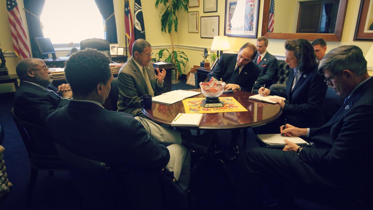 Congressman Bishop and staff meet with Secretary Robert McDonald and Department of Veterans Affairs staff